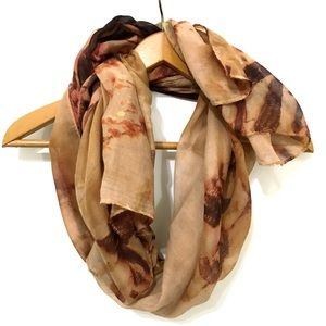 Accessories - Tan, Brown and Rust colored Scarf